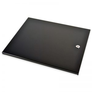 Image of black Clover Tray Locking Lid to go with your other Clover point of sale products that you can order from Monify.